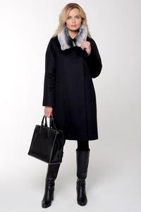Зимнее пальто с мехом кролика арт.102